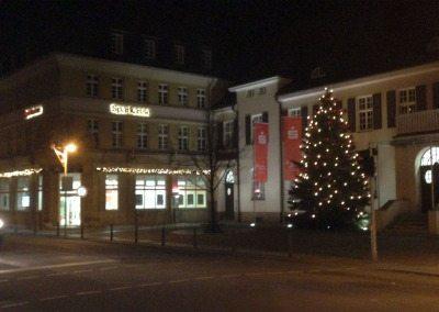 Weihnachtsbaum Sparkasse in Finsterwalde