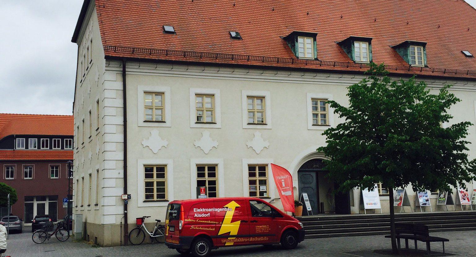 Elektroinstallation im Rathaus Finsterwalde