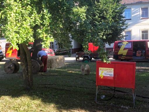 Eventstromversorgung zum Naturparkfest in Sorno